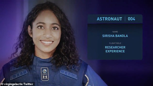 Sirisha Bandla, Virgin Galactic¿s vice president of government affairs and research operations