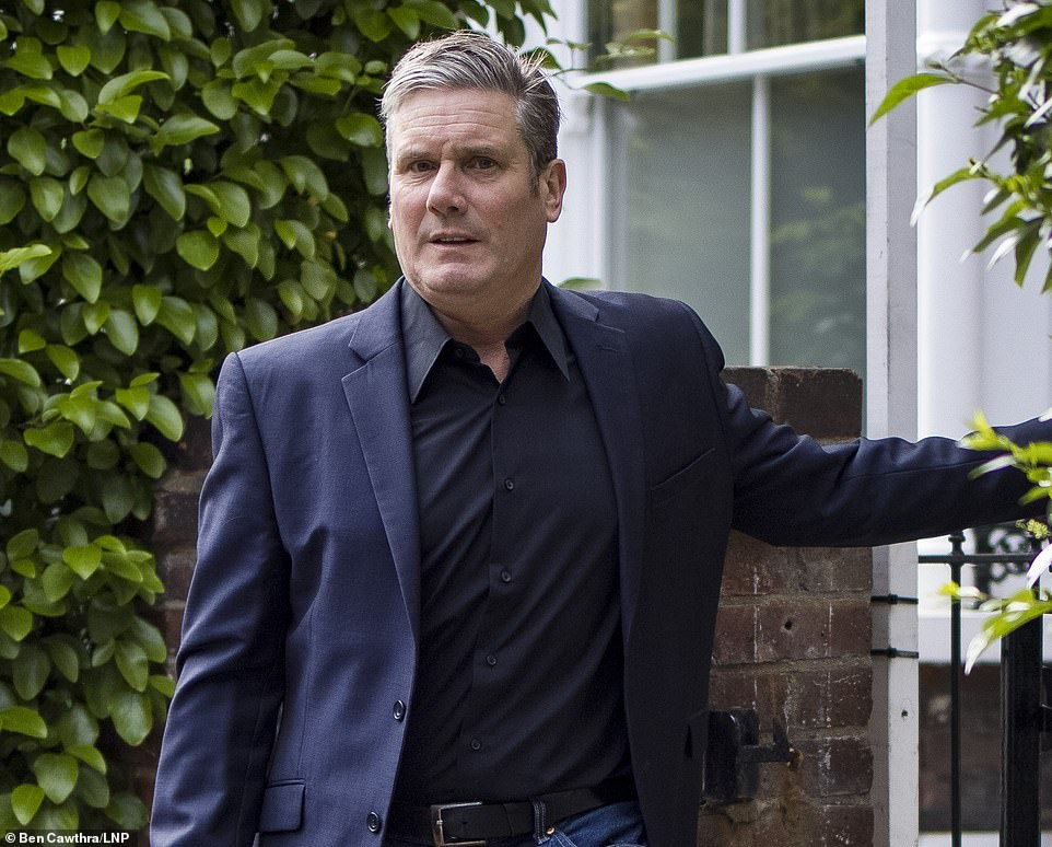 Labour Party leader Sir Keir Starmer leaves his London home on the morning of the Batley and Spen by-election