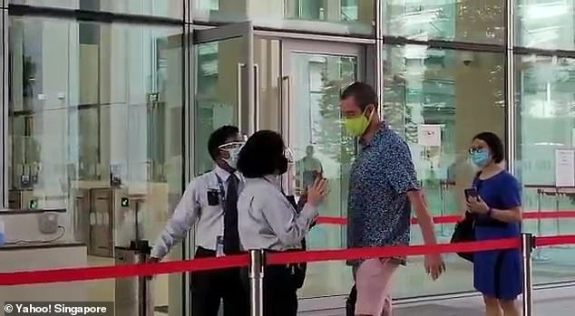 He only wore a mask when ordered to do so by court officials, and he took it off immediately after leaving the courtroom