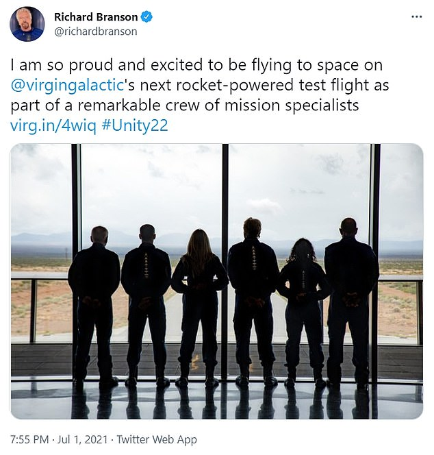 Branson, who dubbed himself Astronaut 001 on Twitter late Thursday night, was originally scheduled to fly on the second of two upcoming test flights but has been bumped up to the next one to steal a march on his billionaire rival and get to space first