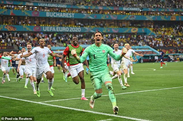 The win saw the Swiss qualify for last eight of a major tournament for the first time since 1954