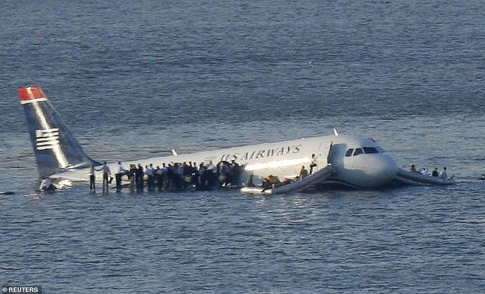 In 2009 a U.S. Airways plane landed in the Hudson River in New York City shortly after take-off, with all 155 people on board safely evacuating