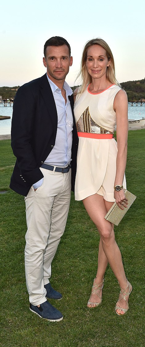 Glamour pair: Shevchenko and wife