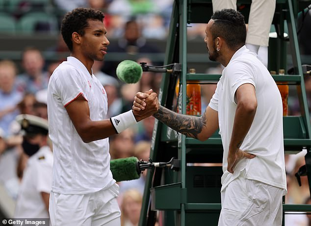 Before he could kick-off the third set against Auger-Aliassime, the Australian conceded