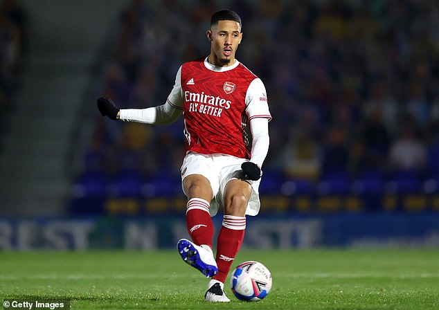Saliba spent half of last season in the reserves as Arteta does not consider him ready for action