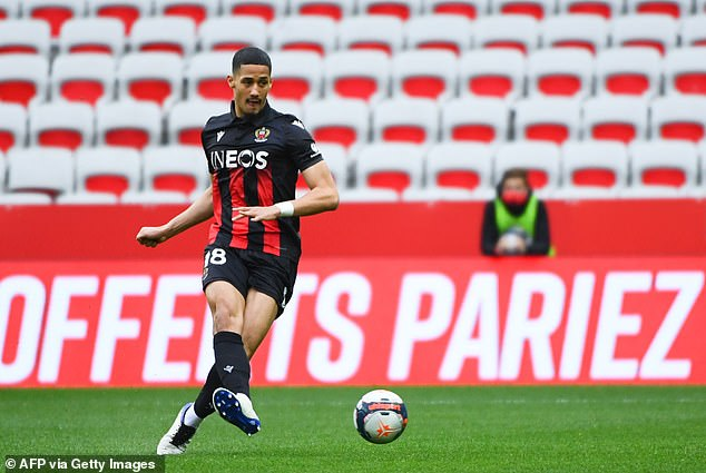 Saliba moved to French side Nice for the second half of the season and played 20 times