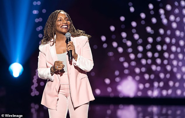 Cosby's support came after he retweeted a posting by singer and actress Stephanie Mills, pictured, who in turn voiced her support for Rashad