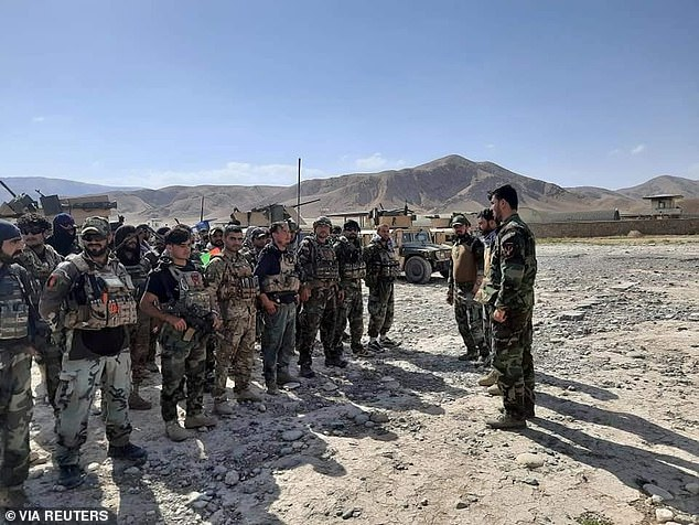 Afghan Commandos arrive to reinforce the security forces in Faizabad the capital of Badakhshan province, after Taliban captured neighborhood districts of Badakhshan over the weekend