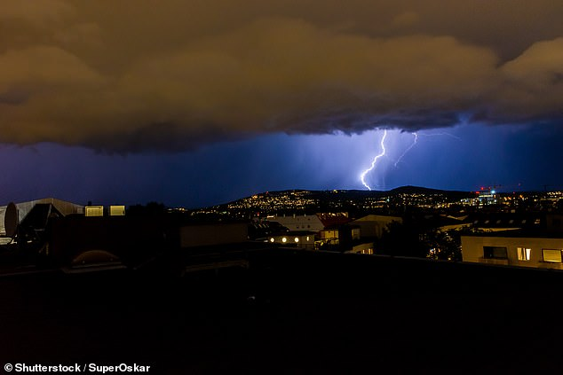Benedicte Myrset, 18, and 12-year-old Victoria Myrset from Oslo, were struck by lightning in the mountainous area of Hareid on Sunday (stock image)