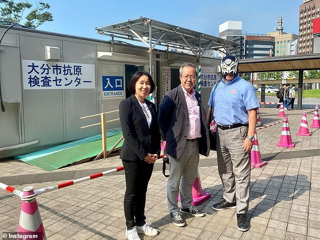 The councillor has proved popular with his constituents, and is currently serving his third term on Oita City's council after being successfully re-elected for the second time earlier this year