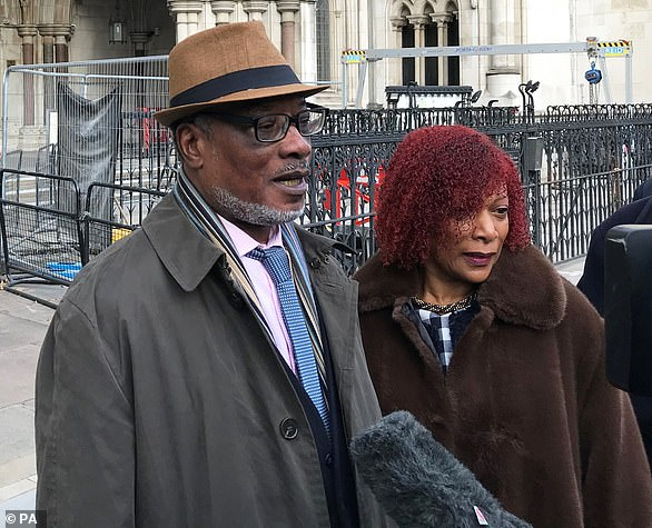 Winston Trew and his wife Hyacinth, pictured outside court in London last year