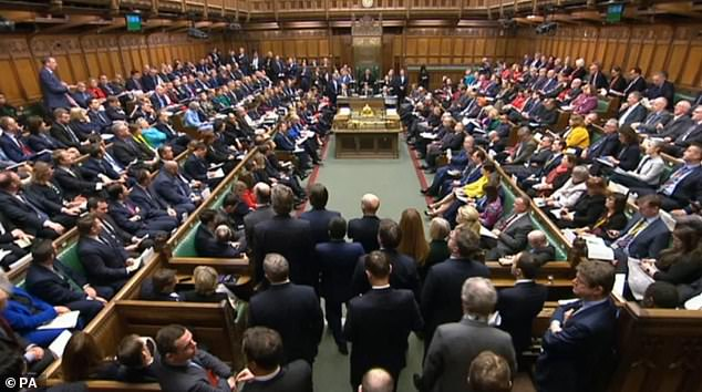 Before the pandemic hundreds of MPs would routinely cram into the chamber for PMQs, but since last Spring just a few dozen have been allowed to attend in person