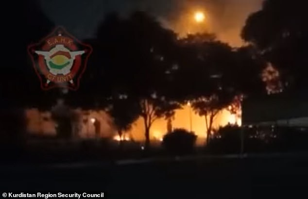 Erbil Airport in Iraq was allegedly under 'a massive rocket attack' while hosting US troops, it has been reported