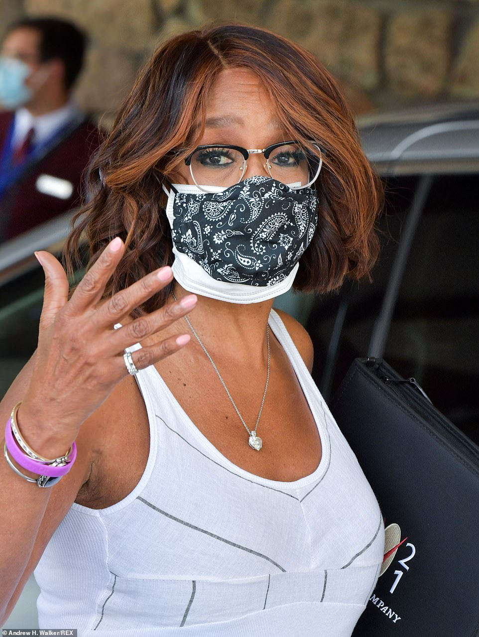 CBS News' Gayle King also made her appearance at the Sun Valley conference on Tuesday