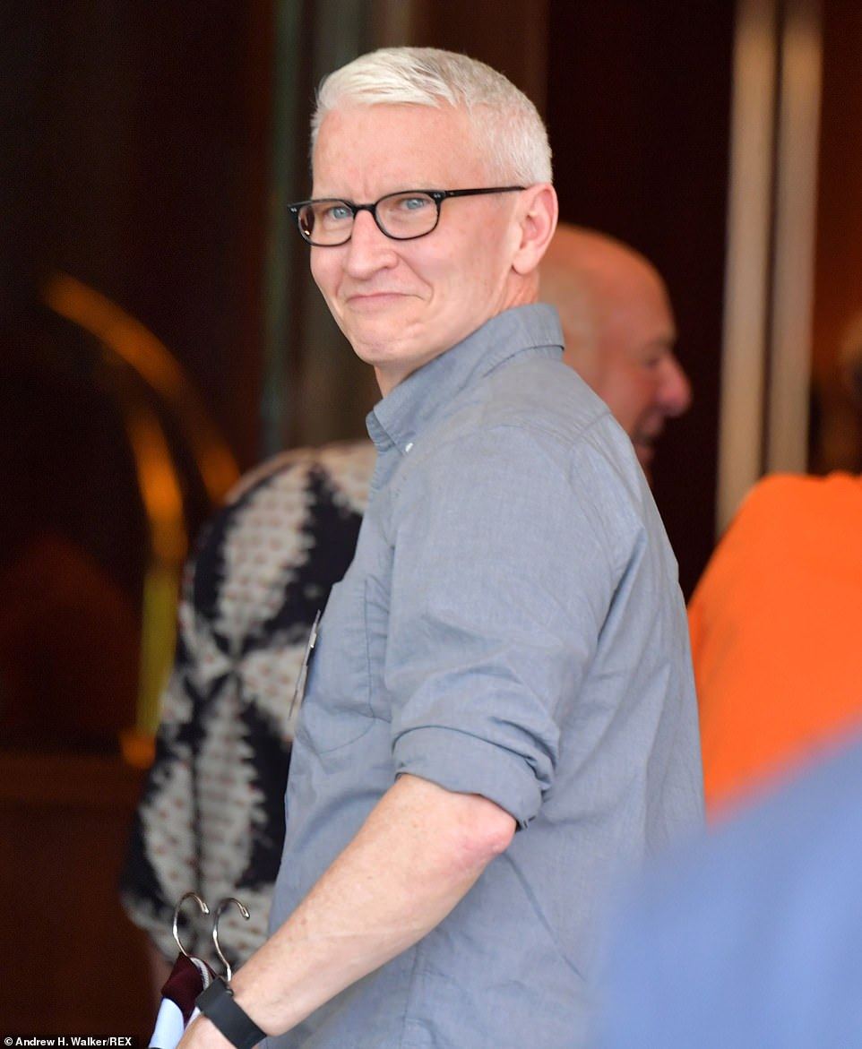 CNN's Anderson Cooper also arrived on Tuesday. The conference features some of the top names in tech, entertainment and sports