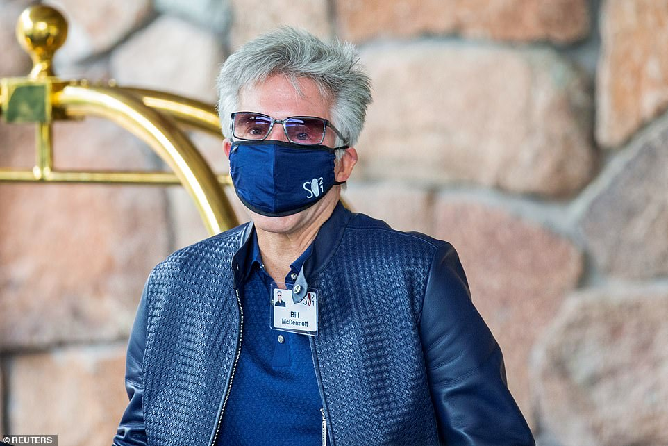 Bill McDermott, CEO of ServiceNow arrives on Tuesday for the annual conference