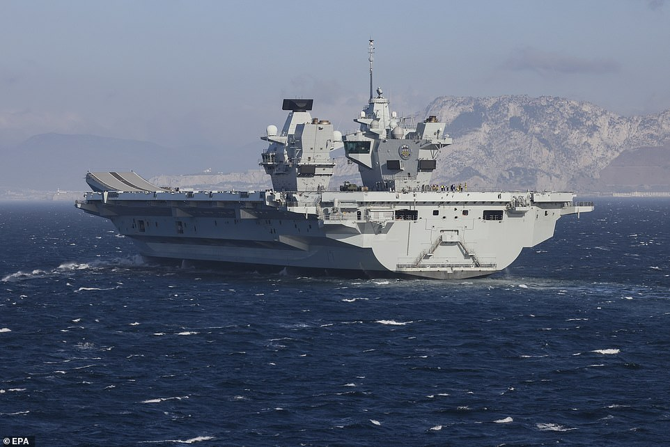 HMS Prince of Wales, the Royal Navy aircraft carrier,made its first overseas port visit in Gibraltar yesterday (pictured)