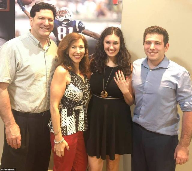 Also among the victims identified Wednesday was Dr. Gary Cohen, 58 (left). He is seen with his wife Mindy Cohen with son Jared and his fiance Stephanie in May of 2020