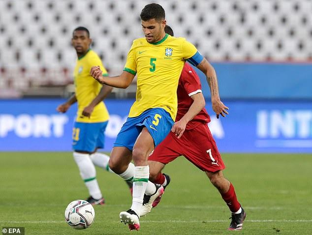 Lyon midfielder Bruno Guimaraes is the permanent captain of the Brazilian Under 23 team