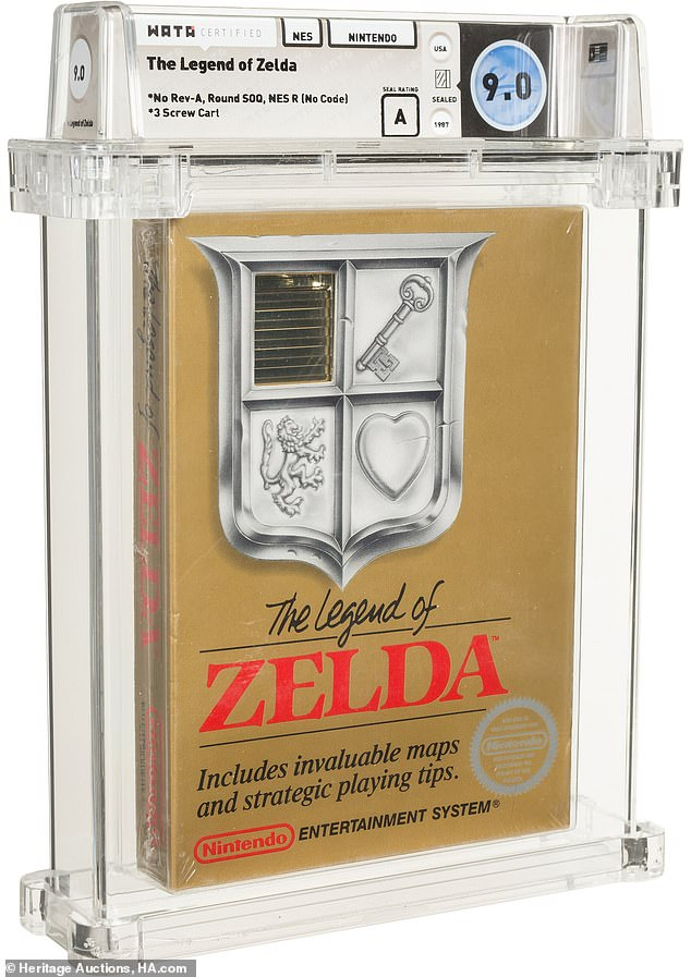Dallas-based Heritage Auctions is auctioning off the never-before-opened video game, which has a current bid of $110,000 as of the time of this article.