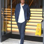Jay Z in smart casual ensemble as he steps out of Roc Nation offices in New York City 💥💥