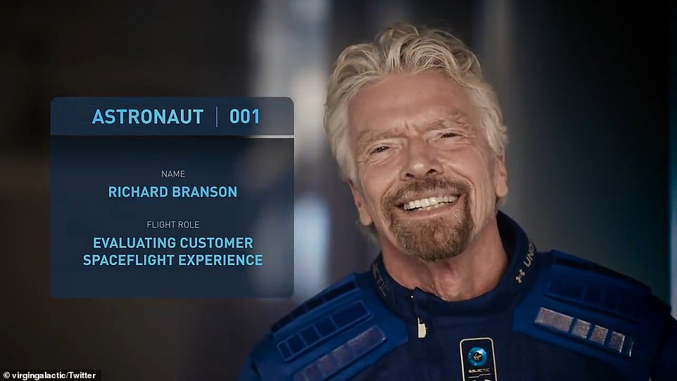 Virgin Galactic founder, Sir Richard Branson, moved his trip to space to an earlier test flight after Jeff Bezos announced he was going up, but claims no rivalry, saying 'we both wished each other well'