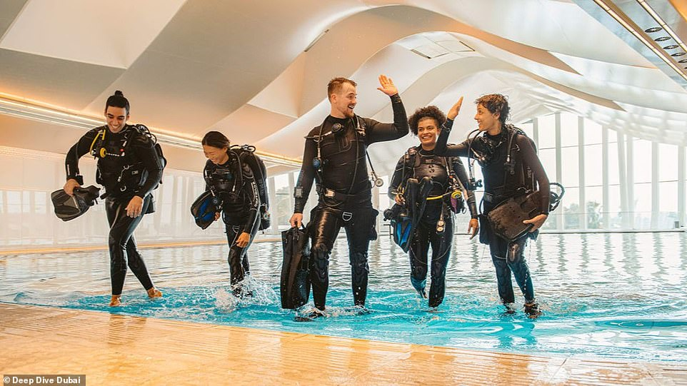 Dubai's newest attraction is billed as a family friendly day out with diving courses for beginners and advanced divers, but there are also tours on offer