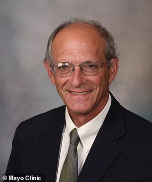 Dr David Knopman (pictured) has been one of aducanumab's biggest critics, saying that Biogen's trials of the drug do not show that the drug is effective in combatting Alzheimer's