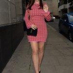 Imogen Thomas puts on a leggy display in a pink mini dress 💥💥