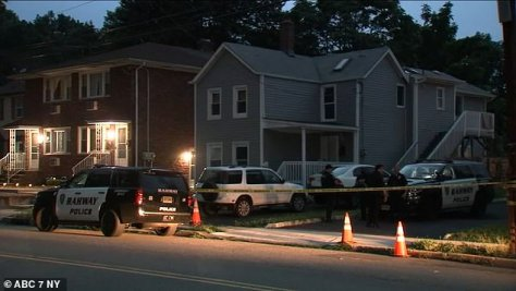 Police are seen responding to the home where they found Yasemin and her son Sebastian missing