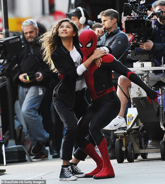 Experience of a lifetime:'It's pretty special to have grown up all together,' Zendaya told E! of the franchise, adding that it has been a little 'bittersweet' because future franchise films are currently not known; pictured 2018