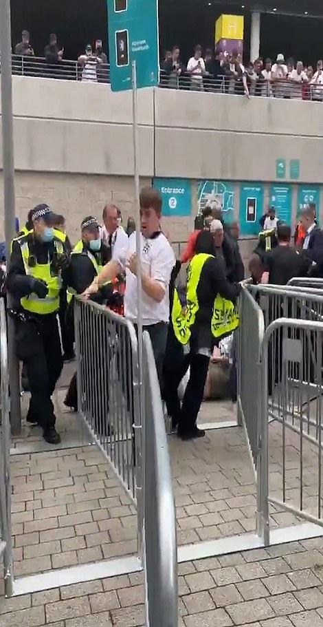 Fans push through security