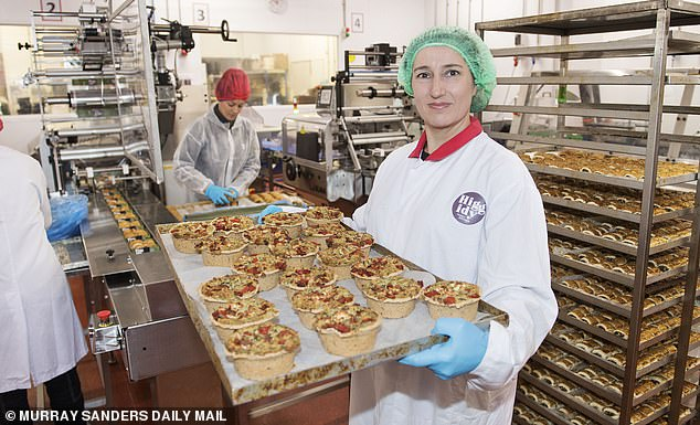 Rachel Kelley, CEO of pastry firm Higgidy, has been mucking in with other members of her head office staff to help pack pies