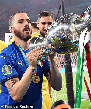 The defender was in triumphant mood after a standout performance in the Euro 2020 final