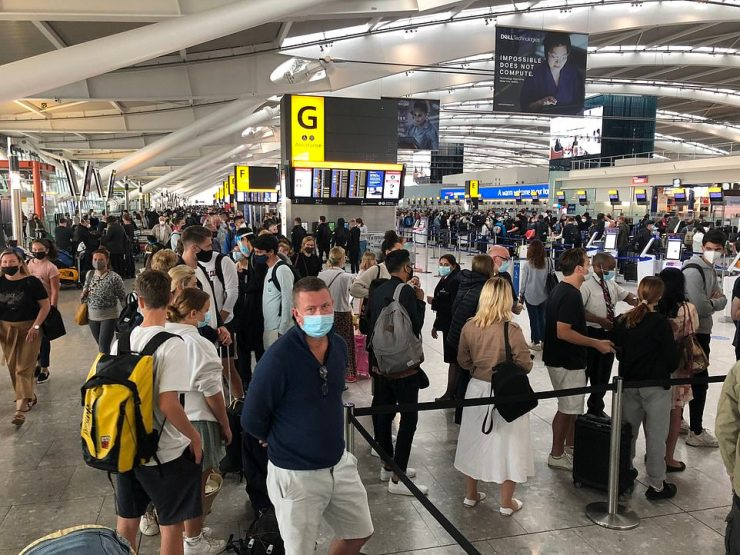 An airline source told MailOnline that the delays at London Heathrow this morning were 'due to security staffing issues'