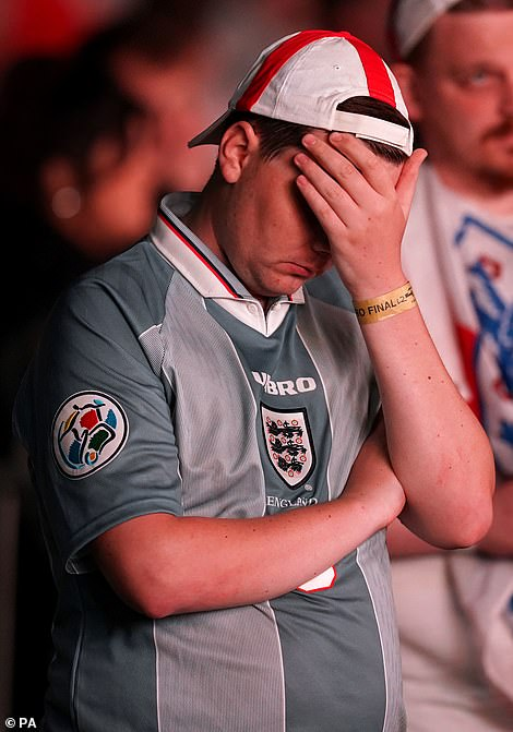 Fans faced extra time agony after Italy scored an equaliser at Wembley