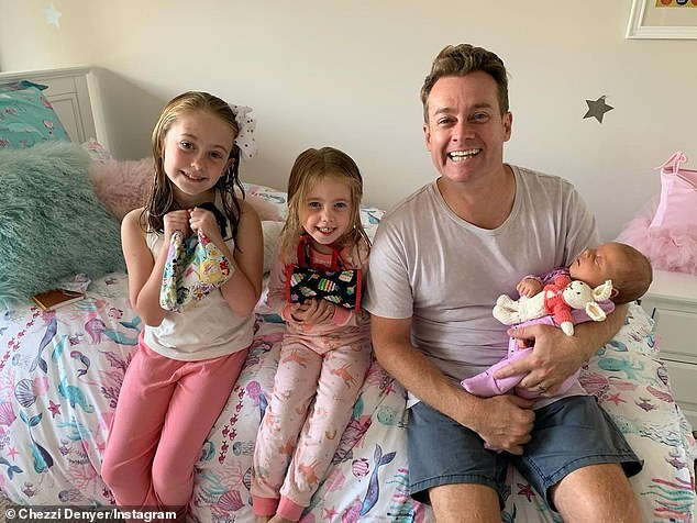 Protector: 'I'm so deeply aware that my whole purpose on earth is to make sure that they are safe and protected and they feel loved,' he told Yahoo on Monday. Pictured with his daughters