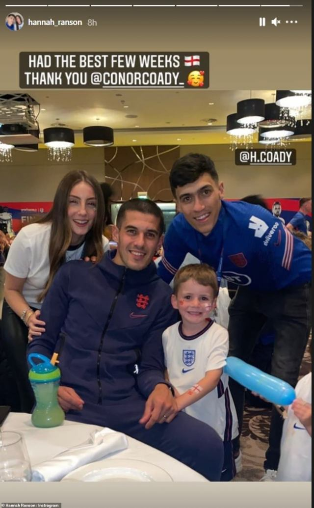 Conor's sister-in-law Hannah shared this sweet snap of the family reunited after the game