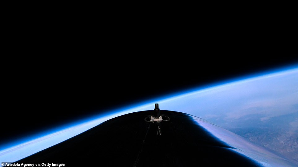 Branson flew into space aboard a Virgin Galactic vessel, a voyage he described as the 'experience of a lifetime' at the Spaceport America in New Mexico, US