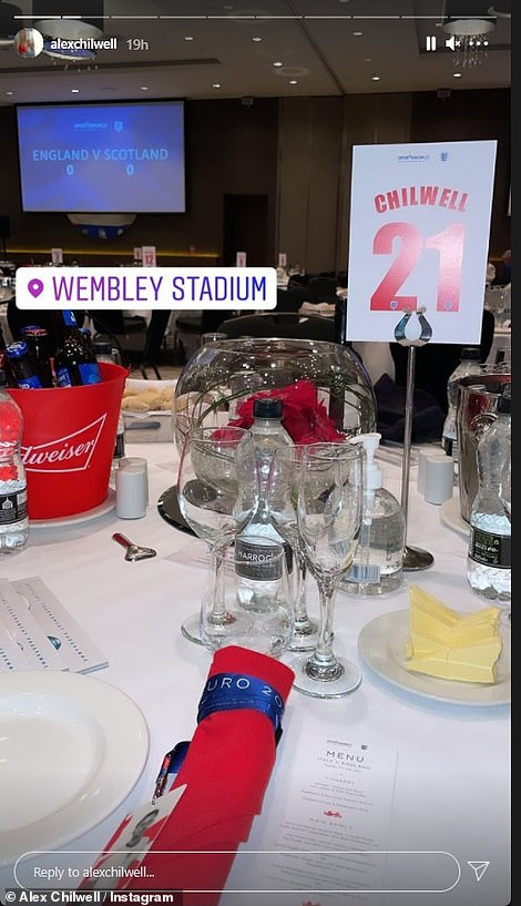 Ben Chillwell's sister Alex shared this shot of their table