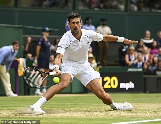 Djokovic is aiming to win all four Grand Slam titles in one year for the first time