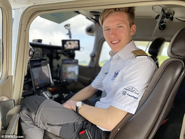 Travis Ludlow, aged 18 years and 149 days, has set a new Guinness World Record with his 25,000-mile solo flight which took him 44 days to complete