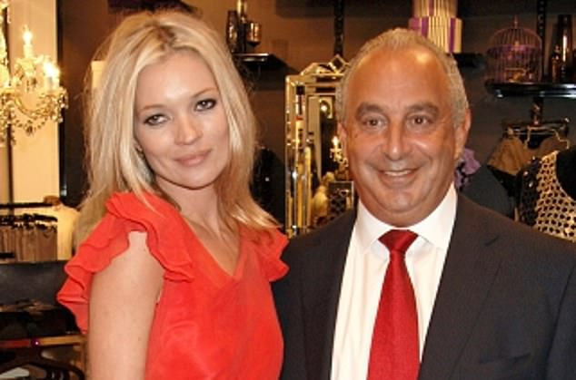 American dream: Former owner Sir Philip Green (pictured with Topshop model Kate Moss) failed to conquer the US market