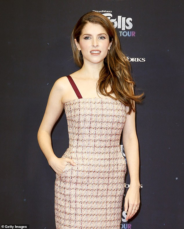 New role: Anna Kendrick is starring in the Psychological thriller film Alice, Darling, which is currently in production in Canada; the actress is pictured in February 2020