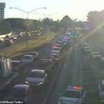 Peak hour CHAOS as a truck rolls and multiple cars collide on major motorway just outside Brisbane 💥👩💥
