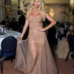 Victoria Silvstedt, 46, puts on a busty display in a sequined gown at influencer awards in Cannes 💥👩💥