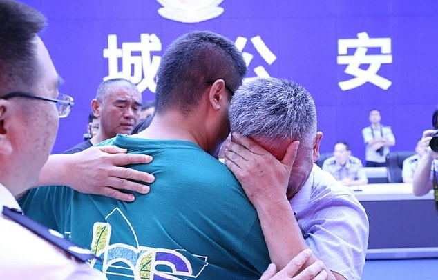 A Chinese father has been reunited with his son who was abducted by traffickers 24 years ago after travelling 310,000 miles around China on a motorbike to find him