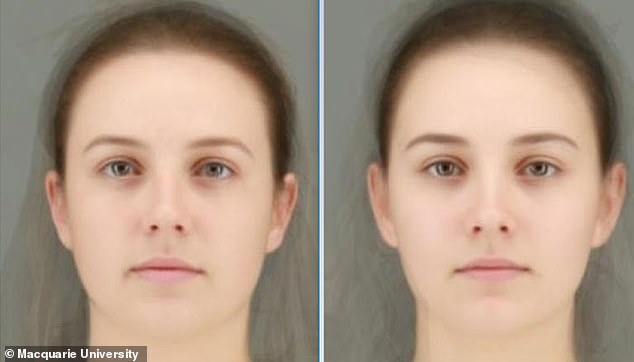 More inscrutable: Composite images of the average faces of the women who were least (left) and most (right) open to casual, short-term connections, although men found it difficult to determine the difference overall