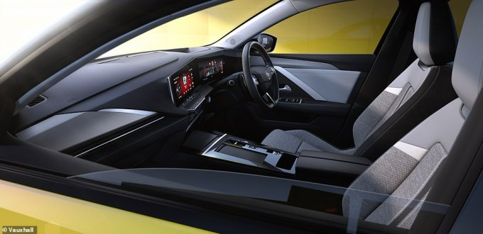 Can you see a stick? No. That's because Vauxhall has done away with the conventional hand brake and gear selector for automatic variants