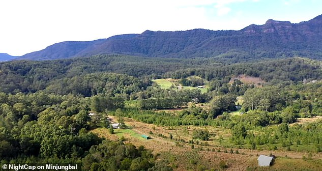 Nightcap on Minjungbal (site pictured) is being developed at Mount Burrell near Nimbin